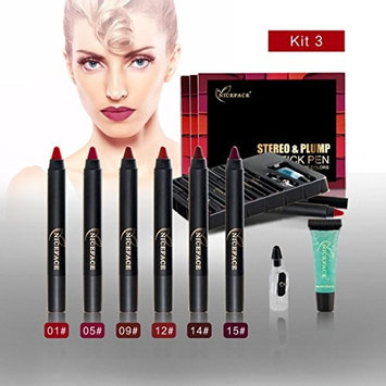 Hot Sales! DEESEE(TM) 6 Pcs Ladies Beauty Makeup Waterproof Sexy Pen Hydrating Long Lasting Lip Gloss Pen Set