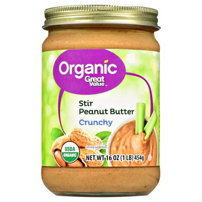 Great Value Organic Stir Peanut Butter Crunchy