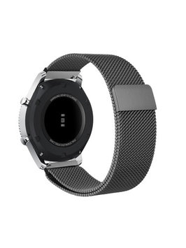 Gear S3 Watch Band, Fintie [Unique Magnet Lock] Loop Adjustable Stainless Steel Replacement Bracelet Wristband, Gray