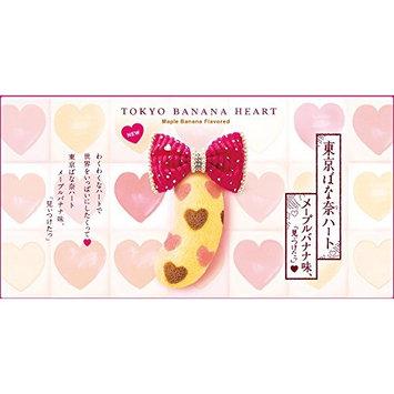 Tokyo Banana Cake -Heart Maple Banana Flavored-