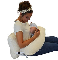 The Twin Z Company The 4 in 1 One Z CREAM Nursing Pillow w AMAZING BACK SUPPORT- CREAM COLOR COVER