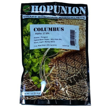 Hopunion US Leaf Hops for Home Brew Beer Making - 1 Ounce (US Columbus)