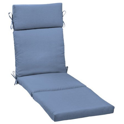Arden Companies Better Homes and Gardens Outdoor Patio Chaise Cushion, Singing the Blue Texture