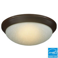Hampton Bay Ceiling Mounted Lighting Oil Rubbed Bronze LED Flush Mount AD160-BR-B