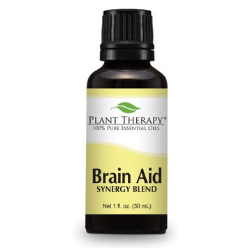 Brain Aid Synergy (for mental focus and clarity). Essential Oil Blend. 30 ml (1 oz). 100% Pure, Undiluted, Therapeutic Grade.