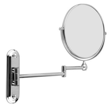 8 inch Stainless Steel Wall Mounted Extending Folding Double Side 5x Magnification Makeup Mirror For Bathroom
