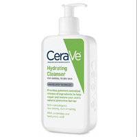 CeraVe Hydrating Facial Cleanser 12 oz for Daily Face Washing, Dry to Normal Skin [Hydrating Facial Cleansers]