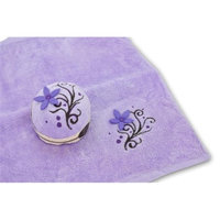 Couture Towel CT-PACB001402 11 x 12 in. Purple Cherry Blossom Cake Towel Purple & Multicolor