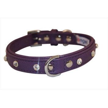 Thierry Mugler Angel Pet Supplies 41115 Athens Rhinestone Dog Collar in Orchid Purple