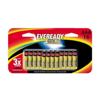 Eveready Gold Alkaline Batteries AAA, In Family Pack, 16-Count
