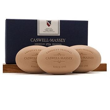 Caswell-Massey Triple Milled Luxury Bath Soap Tricorn Sandalwood Gift Set - Famed Fragrance - 5.8 Ounces Each, 3 Bars [Heritage Tricorn]