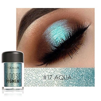 FOCALLURE Shimmer Glitter 12 Colors Eye Shadow Makeup Pearl Metallic Eyeshadow Palette for Professional Makeup or Daily Use By DMZing