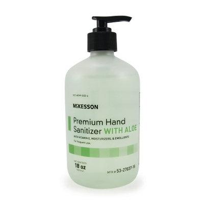 Hand Sanitizer with Aloe McKesson Premium 18 oz. Ethanol Gel Pump Bottle