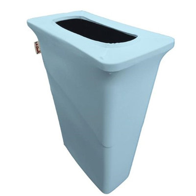 LA Linen SpandexCover23G-SlimJim-BlueLgtX18 Stretch Spandex Trash Can Cover for Slim Jim 23 gal Blue Light