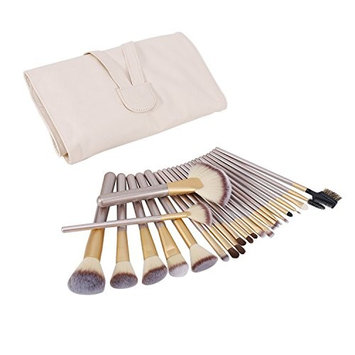 Callica Cosmetic Brushes, 24PCS Professional Premium Cosmetic Makeup Brush Set for Foundation Blending Blush Concealer Eye Shadow, Eyeliner and Daily Makeup