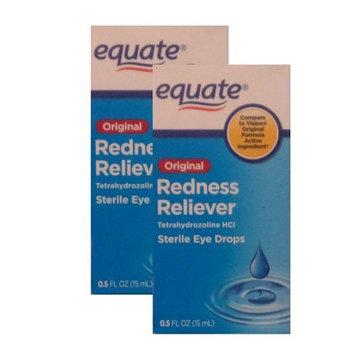 Equate Original Redness Reliever Tetrahydrozoline (.5oz x 2) Compare to Visine