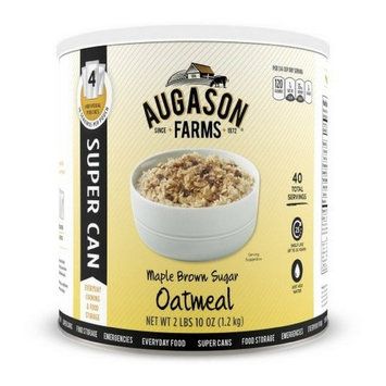 Augason Farms Maple Brown Sugar Oatmeal, 42 Ounces, 40 Servings