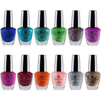 The SHANY Glitter Collection Nail Polish Set - 12 Gorgeous, Twinkling Shades