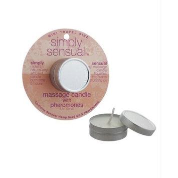 Mini simply sensual soy massage candle - .5 oz pomegranate ginger