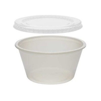 Pactiv 4 oz Portion / Soufflé C with Lids 600 Sets - Plastic 4 Ounce Containers (pack of 600)