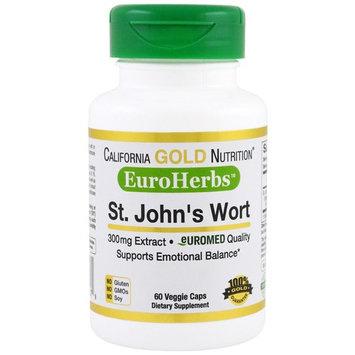 California Gold Nutrition, St. John's Wort Extract, EuroHerbs, 300 mg, 60 Veggie Caps