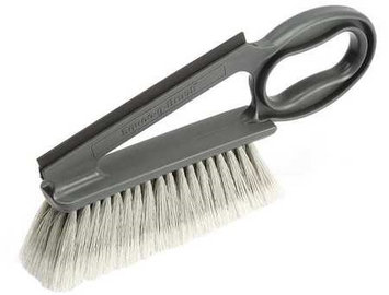 LAITNER 740-42 Dusting Brush with Squeegee, Plastic, Gray