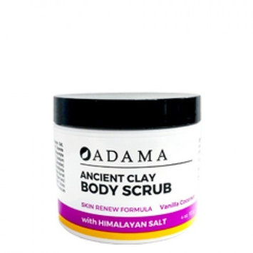 Adama Ancient Clay Body Scrub Vanilla Coconut Zion Health 4 oz Scrub