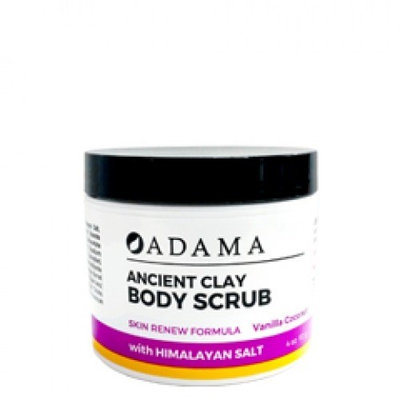 Adama Ancient Clay Body Scrub Vanilla Coconut Zion Health 4 oz Scrub