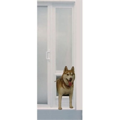 Ideal Pet Products MODVPPMW Modular Medium White Vinyl Patio Standard Flap 76 .75 in- 78 .5 in.