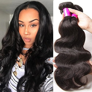 ALI JULIA 20 18 16 Inch Brazilian 10A Virgin Body Wave Hair Weave 3 Bundles 10A Grade 100% Unprocessed Human Hair Weft Extensions Natural Color 95-100g/pc