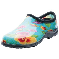 Sloggers Women's Waterproof Comfort Shoes - Turquoise Pansy Print