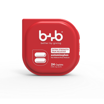 Bb b+b Acetaminophen Caplets, 24-Count