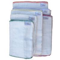 Dandelion Diapers Organic Cotton Natural Unbleached DSQ Cloth Diaper Prefolds - Size 2 Infant - 12 Pack []
