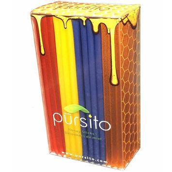 Feeling Fruity Honey Sticks Gift Box Variety Pack 100 Count Gift Box (25 ea flavor): Banana, Grape, Orange & Watermelon Pursito Brand Honeystix