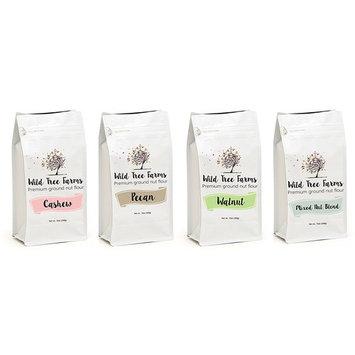 Wild Tree Farms Premium Fine Ground Nut Flour - Gluten-free, Grain-free, Paleo Baking Flours: 4 Pack Variety Pack [Variety Pack]