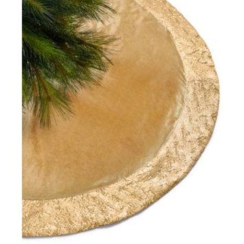 Gold Sequin Border Tree Skirt, Created for Macy's