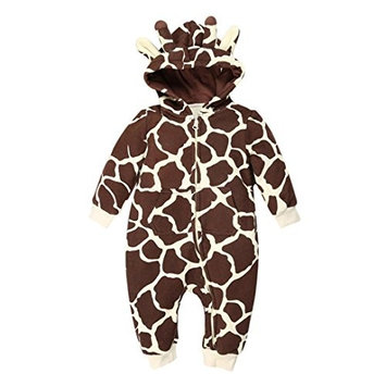 Elevin(TM)Baby Boy Girl Winter Zipper Hoodie Romper Warm Coat Outwear Clothes