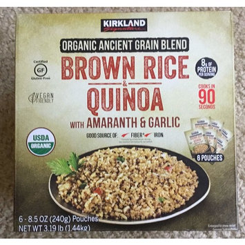 Organic Ancient Grain Blend Brown Rice Quinoa w/ Amaranth & Garlic (6-8.5 oz. Pouches) 3.19 lbs.