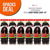 MULTI PACK DEALS! Outre Synthetic Hair Crochet Braids X-Pression Braid Deep Wave Loop 14