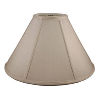 Round Coolie Lampshade in Taupe (24 in. Diam x 14 in. H)