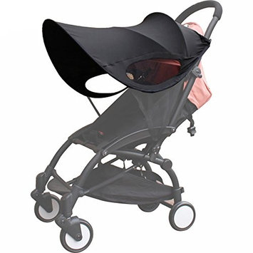 TOOGOO Upgraded version of Baby Stroller Sun Visor Carriage Sun Shade Canopy Cover for Prams Stroller Accessories Car Seat Buggy Pushchair Cap Sun Hood Black