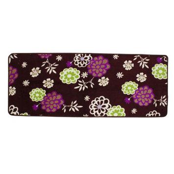Home Outdoor Floral Pattern Nonslip Mat Scrape Doormat 47