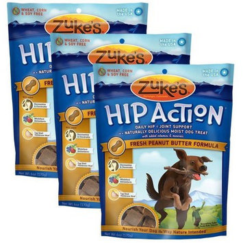 Not Available 3 Packs Zuke's Hip Action with added Glucosamine and Chondroitin PEANUT BUTTER (18 oz)