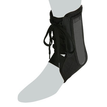 Cramer Products 760121 ACTIVE ANKLE POWER LACER ANKLE BRACE- MEDIUM BLACK - RETAIL CLAM