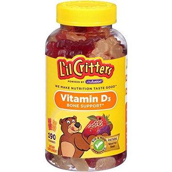 2 Pack - L'il Critters Vitamin D Gummy Bears 190 Each