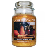 A Cheerful Candle JC71 15Oz. Honey Pear Cider Signature Colonial Jar
