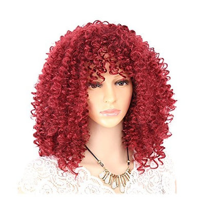 Hair Wig Afro Kinky Curly Wigs for Women Synthetic Heat Resistant Fiber Black Brown Red Full Wig Cosplay Wig