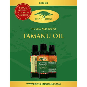(4 oz) Pure Tamanu Oil - 100% Organic, Unrefined and Cold Pressed Tamanu Nut Oil - Natural Relief for Dry Scaly Skin, Blisters, Eczema, Acne Scars, Psoriasis and Rejuvenates Hair with RECIPE EBOOK