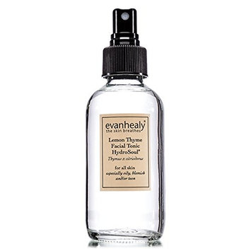 evanhealy Lemon Thyme Facial Tonic HydroSoul for All Skin Types Especially Oily Blemish and or Teen Skin, Artisan Distilled Pure Organic Plant Hydrosol, Aromatic Hydration, Vegan, 4 Fluid Ounces