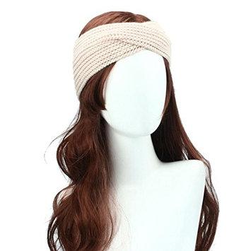 DEESEE(TM) Winter Women Bohemia Weaving Cross Headband Handmade Hairband